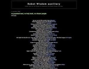 Sito di Robot Wisdom