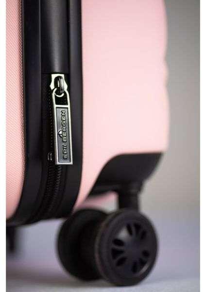 copertina valigia minimalista rosa