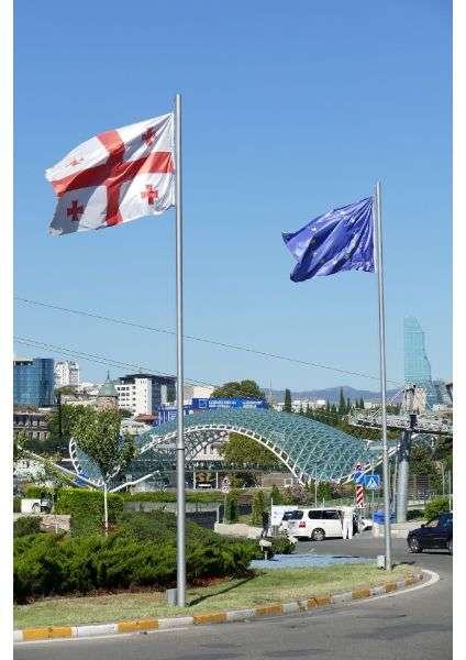 bandiere georgiana ed europea Tbilisi