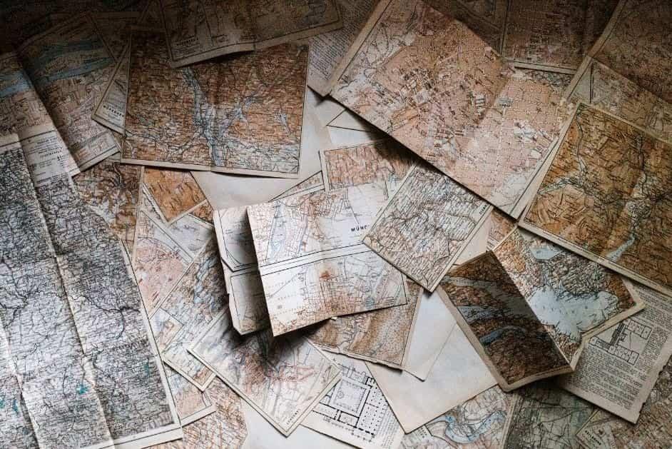 vecchie carte geografiche - regole del viaggiatore doc