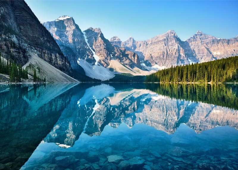 moraine lake- posti più belli del mondo